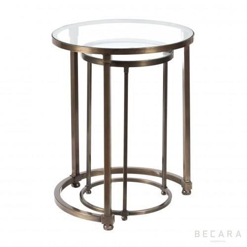 Set 2 mesas de centro redondas - BECARA