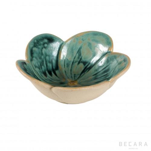 Green flower bowl