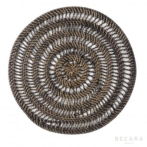 Mantel individual calado marrón - BECARA