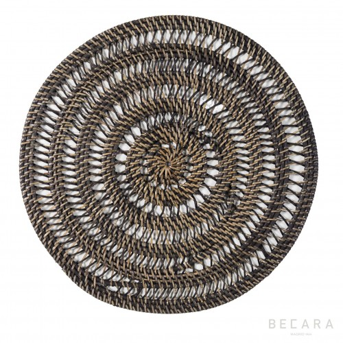 Brown openwork tablecloth