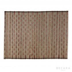 Mantel individual de rayas rojas