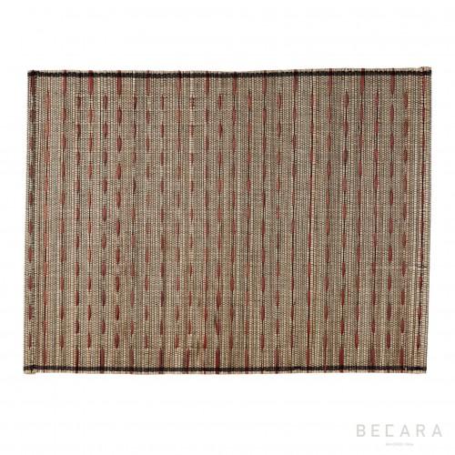 Mantel individual de rayas rojas - BECARA