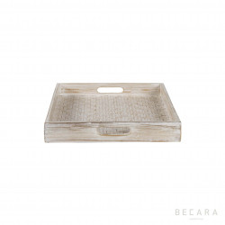 Small white square tray