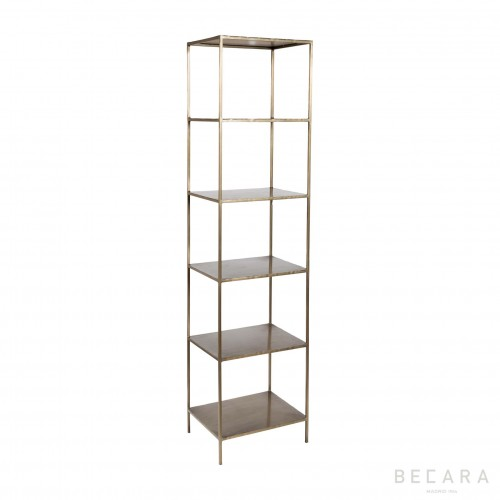 Golden iron shelves with 5 boards