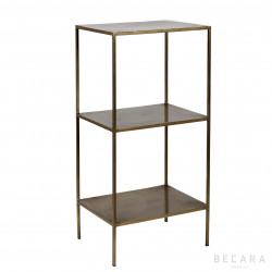 Golden iron shelves with 3 boards