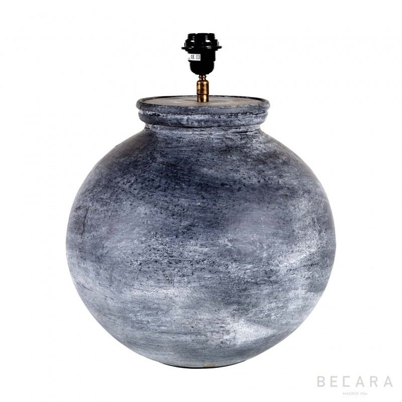 gray spherical table lamp