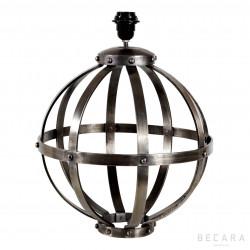 Lámpara de mesa esférica con tiras