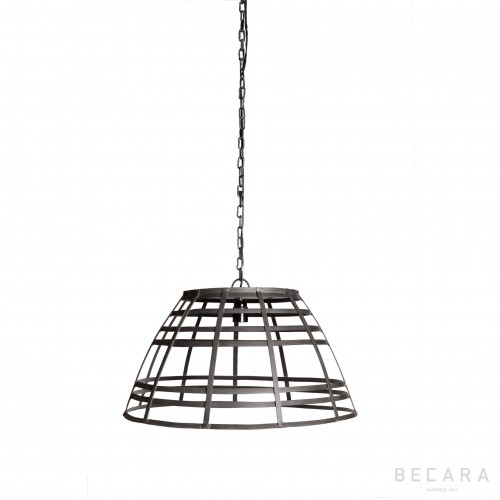 Iron stripes ceiling lamp