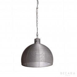 Grey wire ceiling lamp