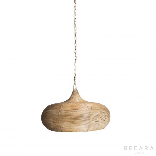Ecru wire ceiling lamp