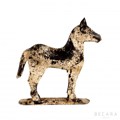 Caballo de metal blanco - BECARA
