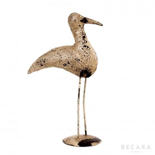 Pájaro metal blanco grande - BECARA