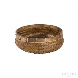 Medium natural rattan basket