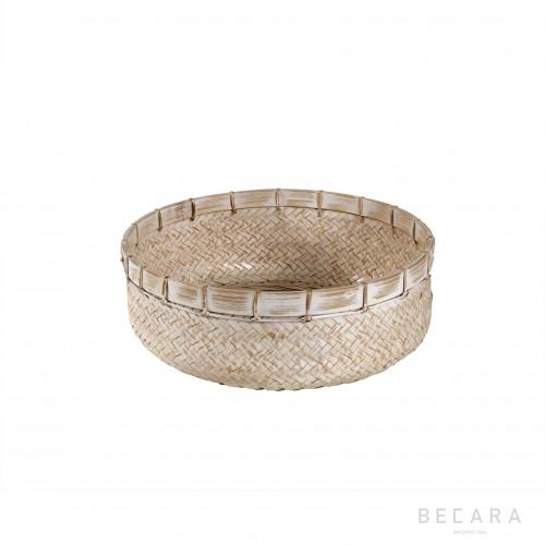 Big white rattan basket