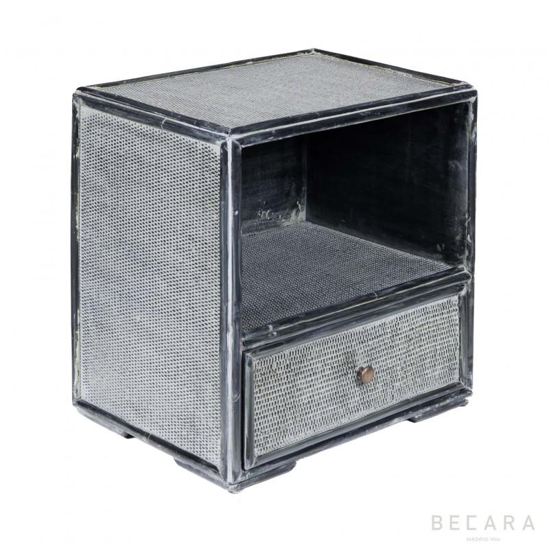 Mesa auxiliar de bambú gris azulado - BECARA
