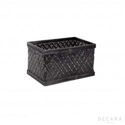 Small black rattan basket