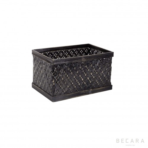 Small black rattan basket