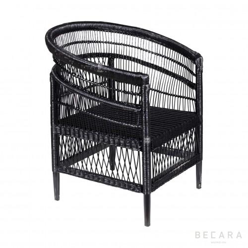 Gathering black armchair