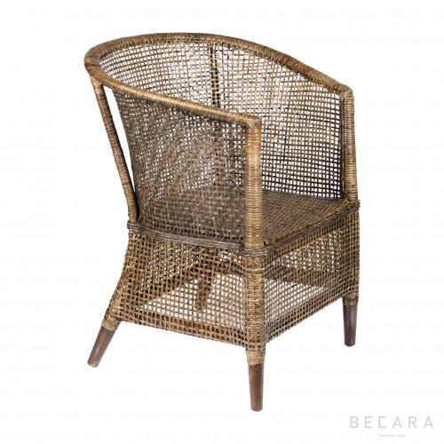 Manila black armchair
