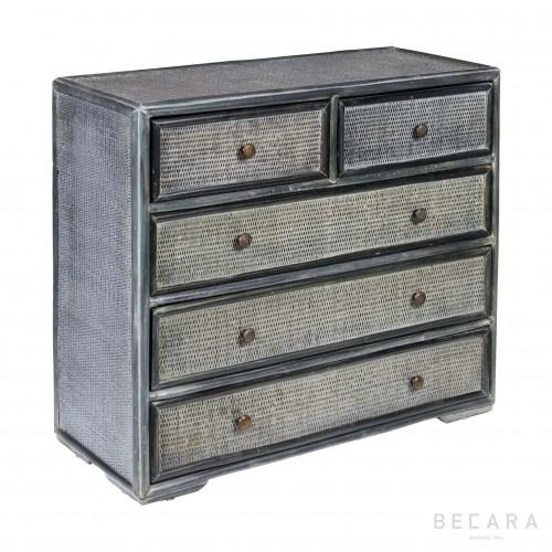 Blueish gray bamboo dresser