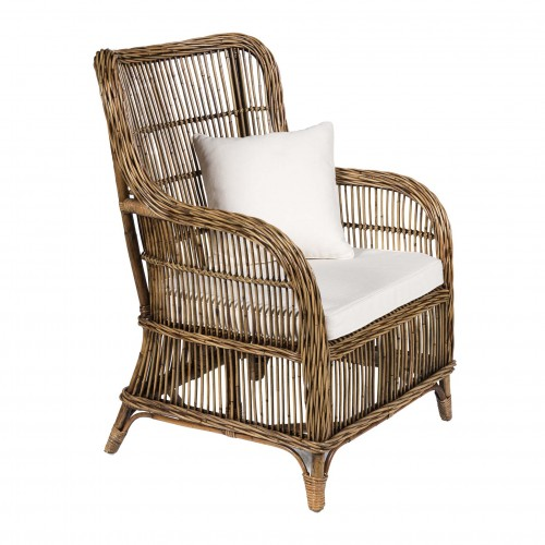 Chasse natural armchair with cushions