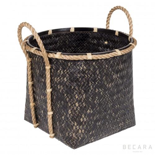 Big basket with rope handles