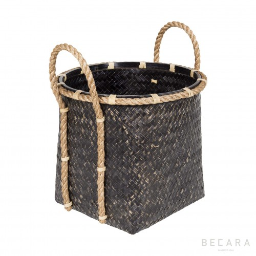 Medium basket with rope handles