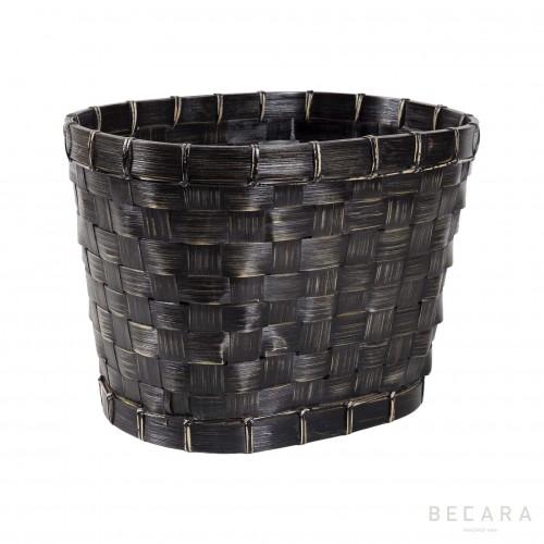 Big black oval basket