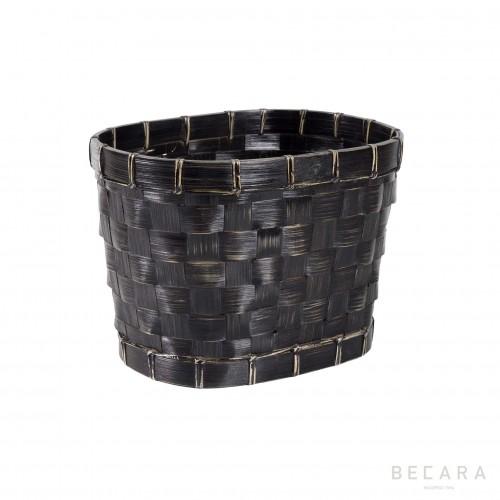 Cesto negro ovalado pequeño - BECARA