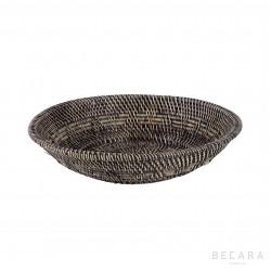 Bowl ratán marrón claro grande - BECARA