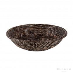 Big dark brown bowl