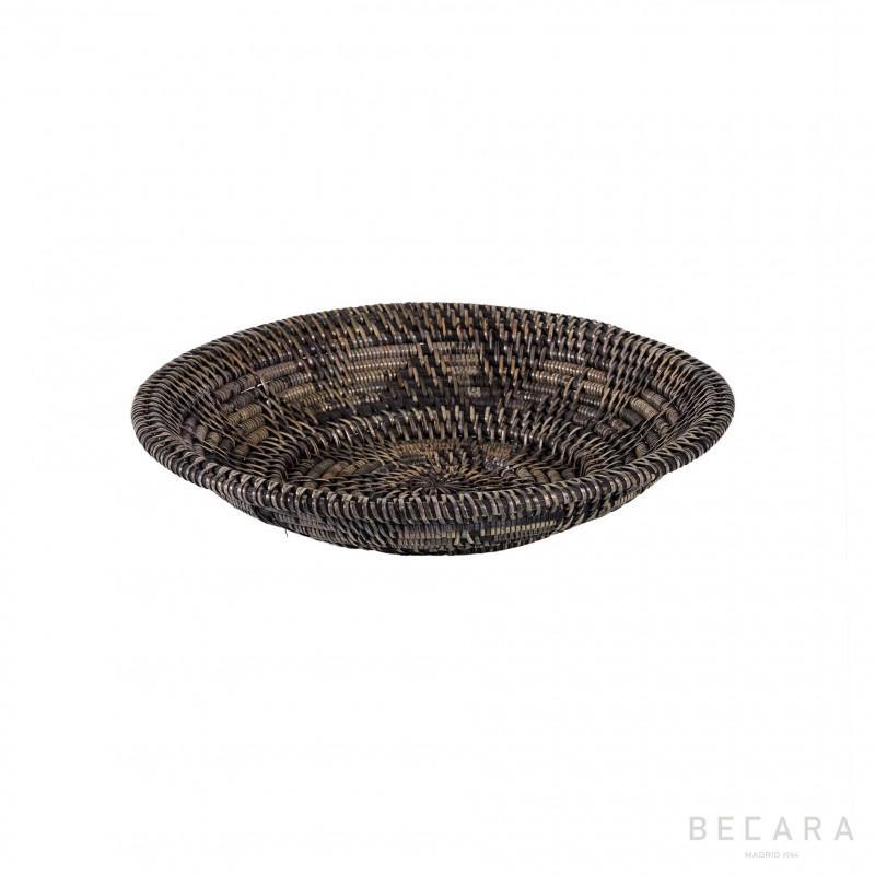 Bowl ratán marrón claro pequeño - BECARA