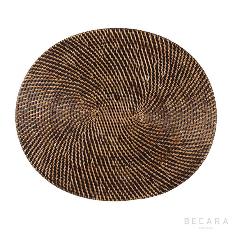 Mantel individual ovalado claro - BECARA