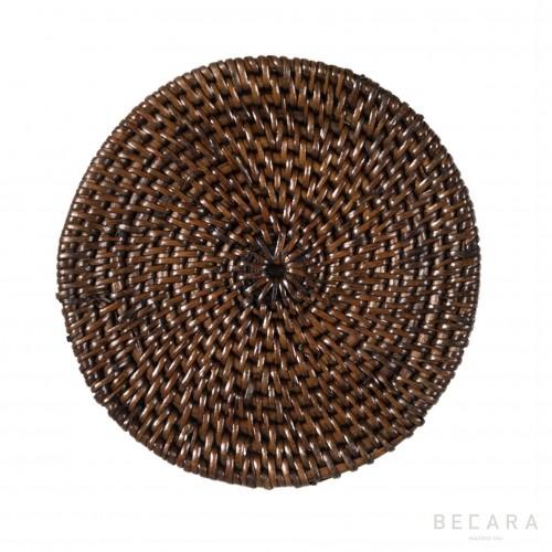 Posavasos marrón oscuro - BECARA