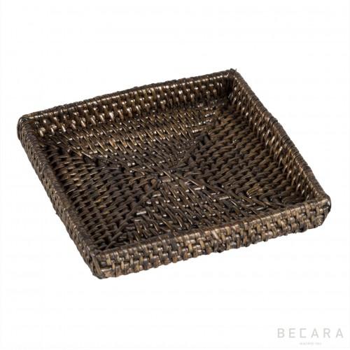 Plato pan cuadrado marrón claro - BECARA
