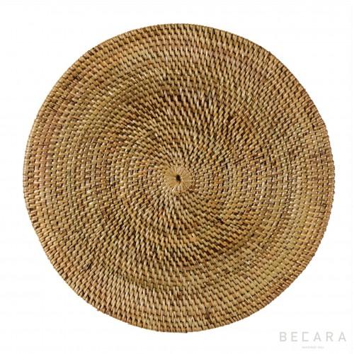 Bajoplato ratán marrón claro - BECARA