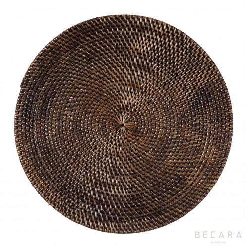 Bajoplato ratán negro - BECARA