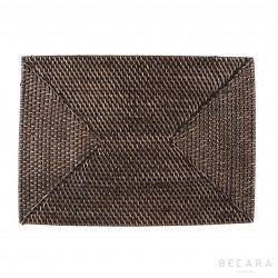 Black rattan tablecloth