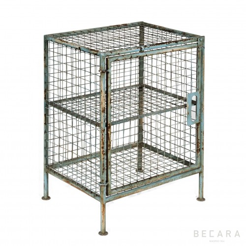 Turquoise sidetable with grids