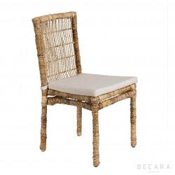 Natural ropes chair w/cushion