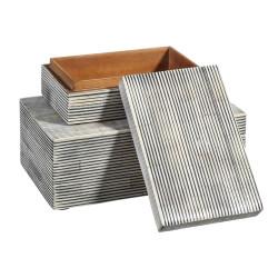Caja Madawa gris grande - BECARA