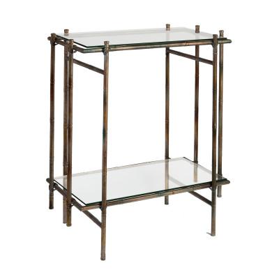 Mesa auxiliar con dos cristales - BECARA