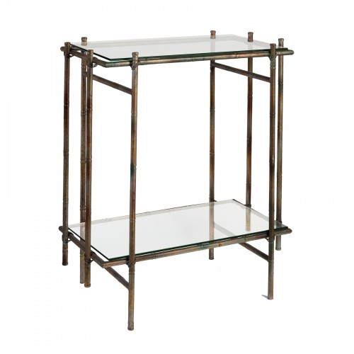 Side table with 2 glasses