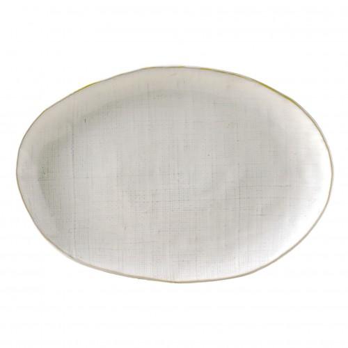 Fuente ovalada Linen blanco