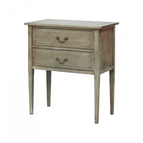 Greenish wooden console with drawers