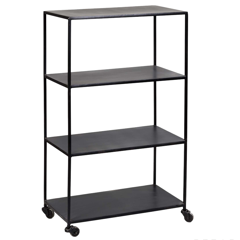 Matte Black Shelves With Wheels