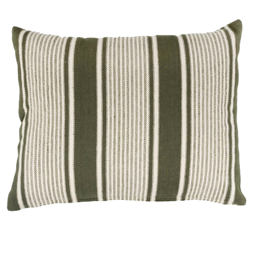 45x60cm green stripes cushion