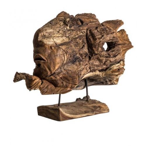 Figura pez de madera