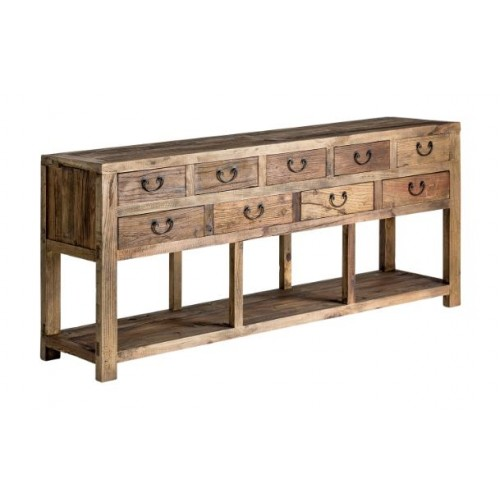 Amber wood console