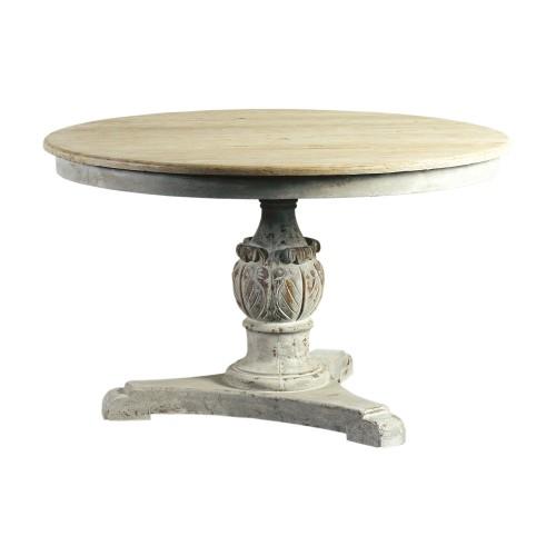 Mesa de comedor tallada gris